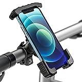 Tisoutec Soporte Movil Bici 360° Rotación Soporte Movil Moto Bicicleta para iPhone / Samsung / XIAOMI / Huawei Serie Teléfono Inteligente Entre 4'-7'
