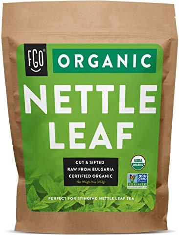 Organic Nettle Leaf | Herbal Tea (200+ Cups) | Cut & Sifted | 16oz Resealable Kraft Bag | 100% Raw From Bulgaria | by FGO
