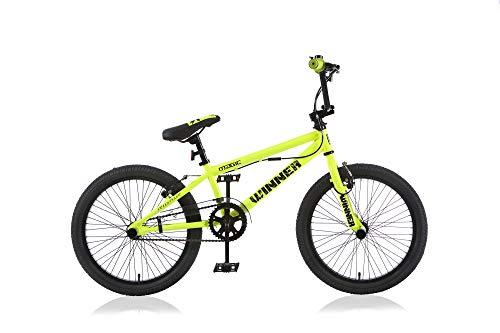 Frank Bikes 20 Zoll BMX Kinder Bike Fahrrad Rad KINDERFAHRRAD JUGENDFAHRRAD Freestyle 360° Rotor 4 Pegs Winner GELB