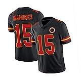 JRTY Camiseta de fútbol Americano de Máhōměs Rugbys, 15# Menores de Rugby de Ocio Deportes Fitness de Manga Corta black2-XXL