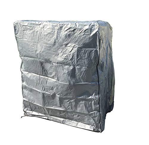 SAUERLAND Strandkorb Schutzhaube Smart, für 2-Sitzer, grau, Regenhaube, leichtes Bändchengewebe