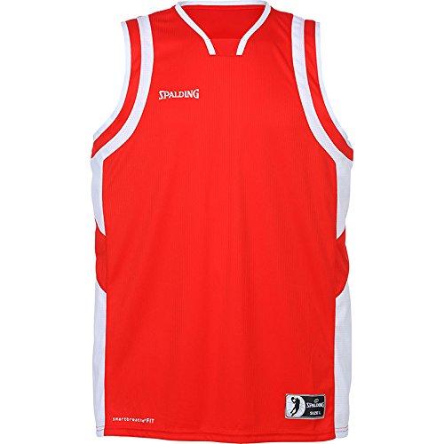 Spalding All Star Camiseta de Juego, Hombre, Rojo/Blanco, M