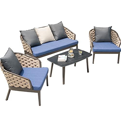 Conjunto de sofás Sofá Multijugador para Exteriores, Sofá De Ratán Tejido A Mano Fácil De Limpiar, Sofá De Patio para Piscina Y Patio(Size:Style 4)