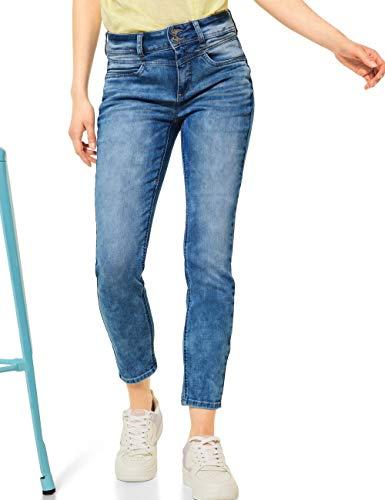 Street One Damen York Jeans, Light Blue Acid wash, W28/L28