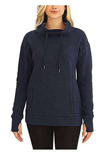 Kirkland Signature Ladies Mock Neck Pullover (Blue, X-Large)