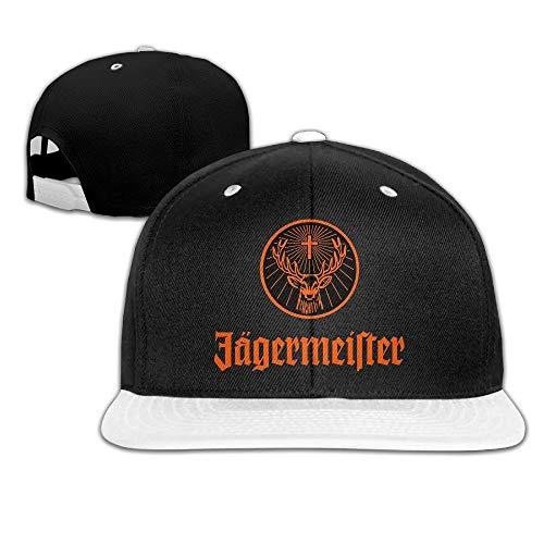 Doormats-shirt Jagermeister Logo Snapback Einstellbare Hip Hop Baseball Cap Kappe Kappe Kappe Kappe Kappe Kappe Unisex Weiß
