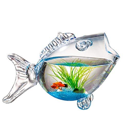 Pecera Tanque de Peces Creativo Acuario Tanque de Peces en Forma de pez Tanque de Peces Goldfish Sala de Estar Tortuga Tanque Acuarios y Peceras Completas (Size : L)