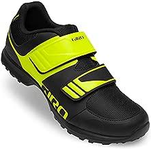 Giro Mens Berm Mountain Biking and Touring Shoe, Black/Citron Green Cover, 13.5