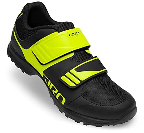 Giro Berm Mens Mountain Cycling Shoe − 44, Black/Citron Green Cover (2021)