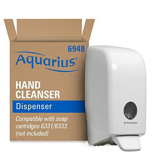 Aquarius Seifen-Spender 6948 – 1 x wandmontierter Seifenspender für Handseife, weiß (Für 1 Liter Seifenkartuschen - Spender kommt ohne Kartusche)