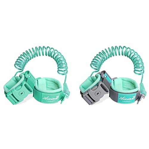 Toddler Traction Rope, Anti-lost Wrist Strap, Safety Belt, Children Rope Outdoor Walking Hand Strap Band (Color : Green, Size : M)