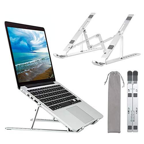 Marvelights Laptop Ständer Laptop Stand Faltbar Laptopständer Erhöhung Notebookständer 7 Stufen Verstellbare Aluminium Notebook Halterung von 10 bis zu 15.6 Zoll