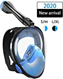 Snorkel Mask, Snorkeling Mask Full Face 180°Seaview Easy Breathe Diving Mask for Adults, Snorkeling Face Mask with Detachable Camera Mount, Dry Top, Anti-Fogging, Anti-Leak