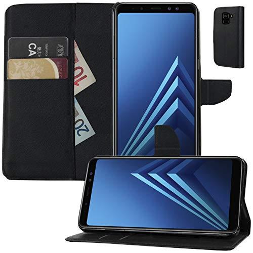 MOELECTRONIX Buch Klapp Tasche Schutz Hülle Wallet Flip Hülle Etui passend für Samsung Galaxy A8 2018 DuoS SM-A530F/DS
