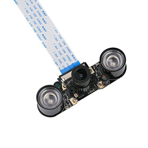 Unistorm Raspberry Pi 4 Camera Module Night Vision with 3.6mm Adjustable Focal Length 2pcs IR Sensor LED Light for RPI 4 Raspberry Pi 3 Model B/B+