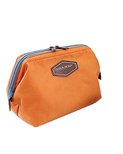 SAMGU Cosmétique Sac à Main d'embrayage Bourse Casual 4 Couleurs Femme Voyage Sac Maquillage Make Up Couleur Orange
