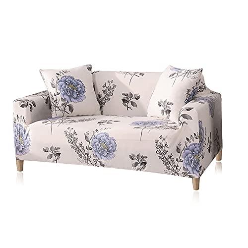 Funda de sofá con diseños geométricos elásticos, Fundas de sofá, Fundas Estampadas, Protector de Funda de sofá, 1/2/3/4 plazas, A4, 4 plazas