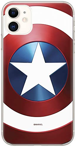ERT GROUP Original Marvel Captain America TPU Case for iPhone 11, Liquid...
