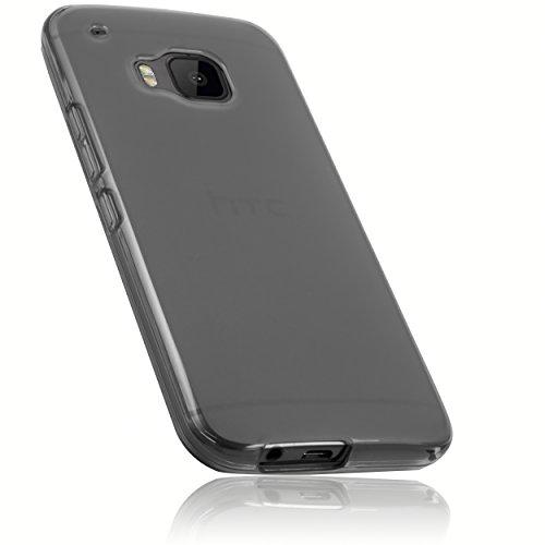 mumbi Hülle kompatibel mit HTC One M9 Handy Case Handyhülle, transparent schwarz