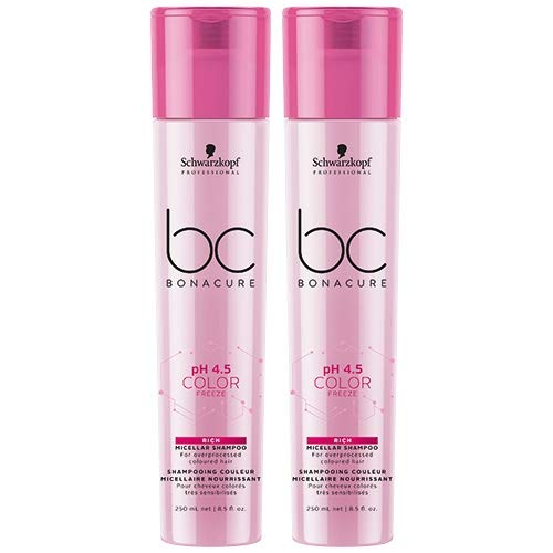Schwarzkopf BC Bonacure pH 4.5 Color Freeze Micellar Rich Shampoo 2 x 250ml = 500ml