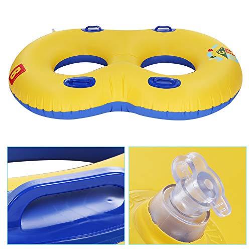 wosume 【 】 Piscina Hinchable para Montar, número 8 en Forma de Anillo de natación para Dos Personas Anillo de natación Inflable para niños y Padres con asa