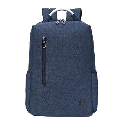LUYIYI メンズアウトドアビジネスモバイルトラベルバッグオックスフォードクロスコンピューターバックパック (Color : Blue)