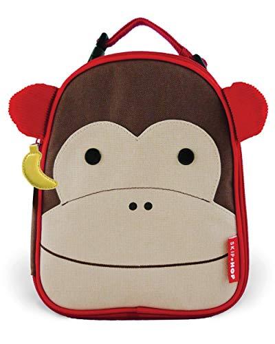 Skip Hop Zoo Lunchie Mini Vespertasche für den Kindergarten, isoliert, mit Namensschild, mehrfarbig, Affe Marshall