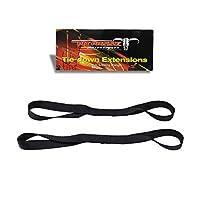 Pit Posse Soft Loop Tie Down Straps (BLACK, 1 Pair (2 straps))