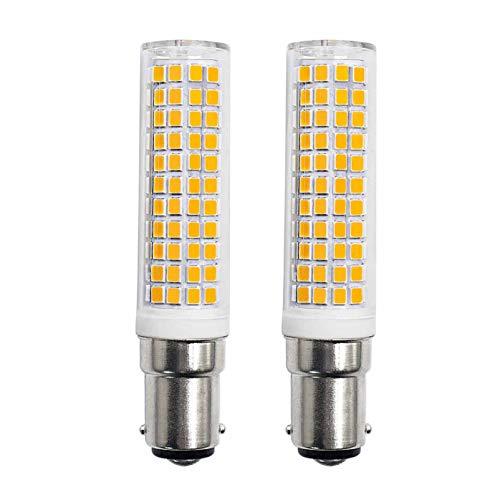 B15d LED Bombilla 10W Equivalente a 100W 90W 70W Blanco Cálido 220V 230V 3000K 910lm Dormitorio Lámpara de Pared Salón Araña Lámpara Regulable Máquina de Coser Bombilla 2 Unidades [MEHRWEG]