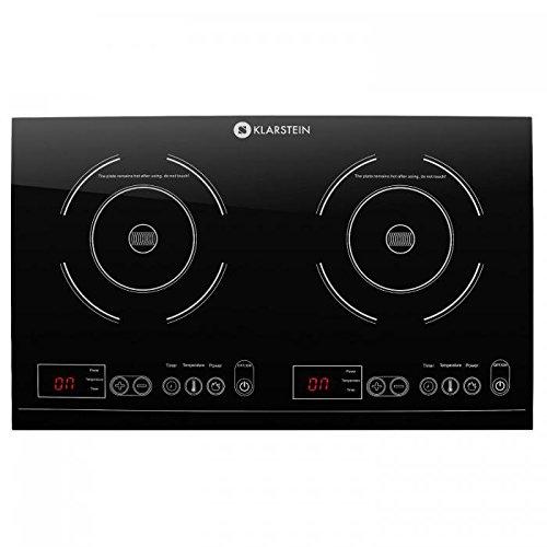Klarstein VariCook XL Placa de inducción doble (3100W de potencia total, temporizador,...
