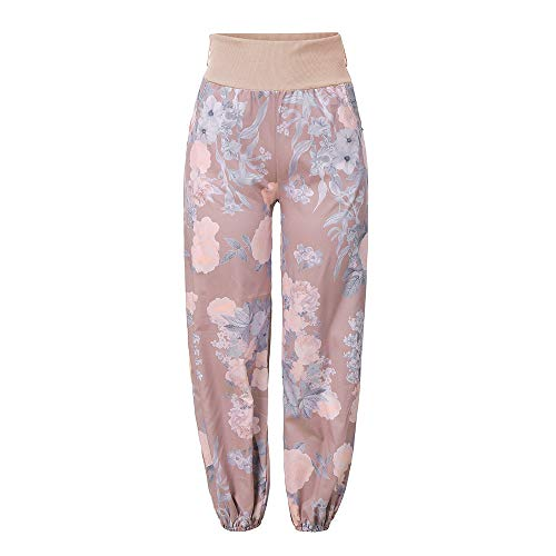 Broeken Autumn Summer Locker Dames Floral Broeken Lange broek Baggy Leggings Plus Size Medium roze