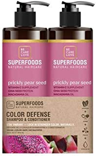 BCL Be Care Love Superfoods Prickly Pear Color Defense Shampoo, Conditioner Liter Duo