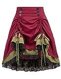 KANCY KOLE Womens Gothic Steampunk Skirt...