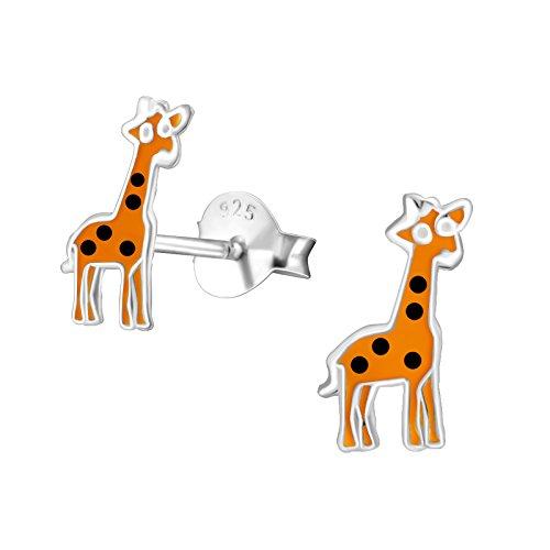 Argento sterling 925orecchini giraffa con sacchetto regalo