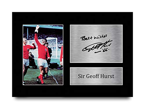 HWC Trading A4 Geoff Hurst England Gifts Printed Signed Autograph Picture for Fans and Supporters A4