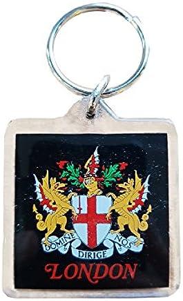 City of London Key Chain / Artistic London Keychains, Crest, England, Key Ring, Keyring, Souvenir Plastic Square Keychains! Artistique! / Künstlerisch! / Artistico! / artístico! Crest of London Keychain! Porte-clés! / Schlüsselanhänger! / Portachiavi ! / llaveros!