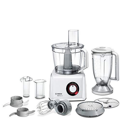 Bosch MC812W501 MultiTalent Kompakt-Küchenmaschine, 1000 W, XXL-Rührschüssel 3.9 l, weiß/weiß