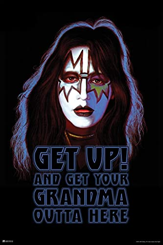Kiss Poster Spaceman Ace Frehley Solo Album Get Up and Get Your Grandma Out of Here Kiss Band Merchandise Kiss Collectibles Kiss Memorabilia Heavy Metal Merch Cool Wall Decor Art Print Poster 24x36