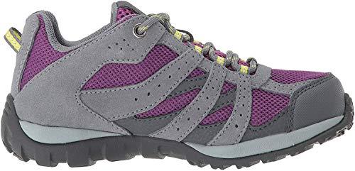 Columbia Redmond Waterproof, Zapatillas de Senderismo para Niñas, Violeta (Plum, Fresh Kiwi), 33 EU