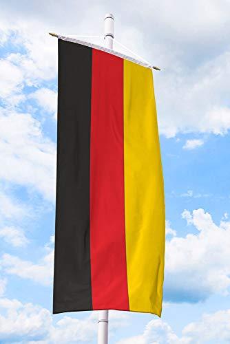 Deitert Deutschlandfahne – 150x400 cm Deutschland-Flagge, Bannerfahne aus reißfestem Polyester