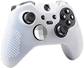 OSTENT Soft Protective Silicone Rubber Skin Case Cover for Xbox One Elite Controller Color White