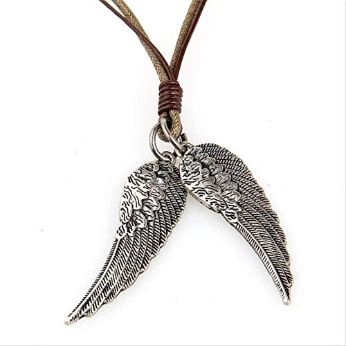 CCXXYANG Co.,ltd Necklace Clothing Accessories for Women Men Lace Wholesale 1 5 * 3 8 cm Long Leather Wings Necklace for Men On Copper Alloy Rope Chain