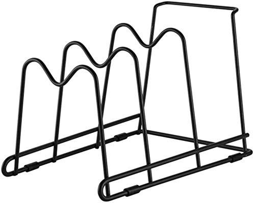 Estante de Almacenamiento de Tapas de Ollas Pan Pan Rack Organizer Gabinete de cocina Cambio de despensa, 4 ranuras de almacenamiento para colocación vertical u horizontal de sartén para sartenes de s
