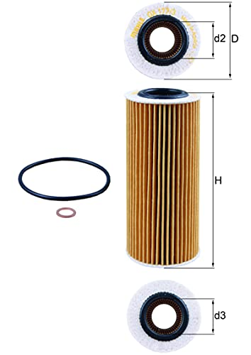 MAHLE Original OX 177/3D Oil Filter