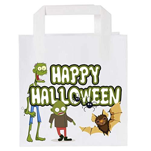 Bolsas de papel para fiesta de Halloween (25 unidades), diseo de zombi