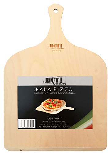 HOT! Kitchenware Pizzaschaufel, Made in Italy, aus Birkenholz, 29x41,5cm (Menge 1Stück)