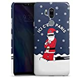 DeinDesign LG G7 ThinQ Coque Étui Housse Paris Saint-Germain Produit sous Licence Officielle Noel