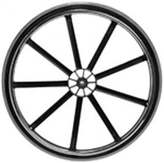 Invacare Wheel Assembly, 24 x 1 Inch, 9-Spoke Black Mag, Urethane Tire, Aluminum Handrim, 7/16 Inch Bearing