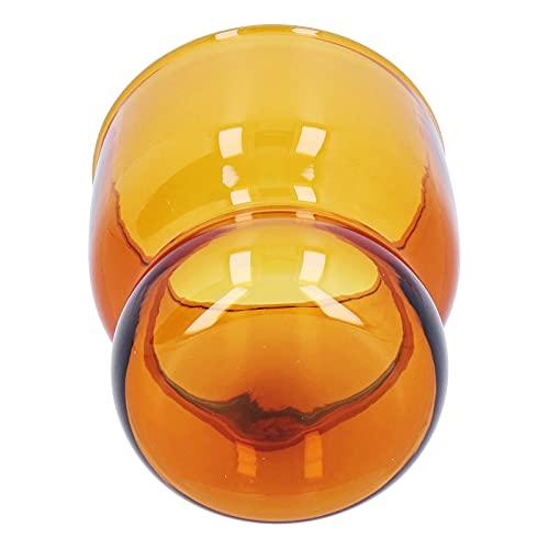 Limouyin Vaso para Beber Vaso de borosilicato Alto Resistente al Calor Adecuado para Leche, Cerveza, café, Malta, té, Whisky(marrón)
