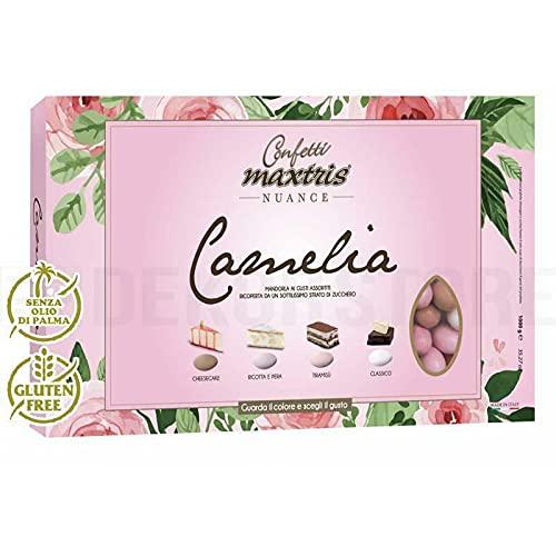 Confetti Maxtris Confetti Italiani Di Mandorla, Nuance Camelia (4 Gusti)., Assortito, 1000 Grammo